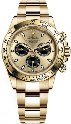 Rolex Cosmograph Daytona Yellow Gold 116508 Champagne Black