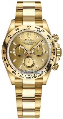 Rolex Cosmograph Daytona Yellow Gold 116508 Champagne Index Oyster