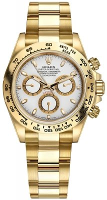Rolex Cosmograph Daytona Yellow Gold 116508 White Index Oyster