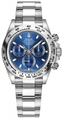 Rolex Cosmograph Daytona White Gold 116509 Blue Index Oyster