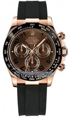 Rolex Cosmograph Daytona Everose Gold 116515LN Chocolate Oysterflex