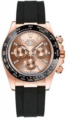 Rolex Cosmograph Daytona Everose Gold 116515LN Pink Baguette Oysterflex