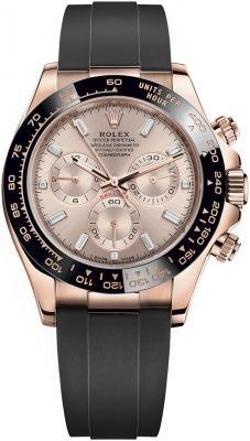 Rolex Cosmograph Daytona Everose Gold 116515LN Sundust Baguette Oysterflex