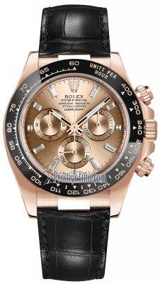 Rolex Cosmograph Daytona Everose Gold 116515 Pink Baguette Index