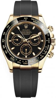 Rolex Cosmograph Daytona Yellow Gold 116518LN Black Oysterflex
