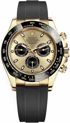 Rolex Cosmograph Daytona Yellow Gold 116518LN Champagne Black Oysterflex
