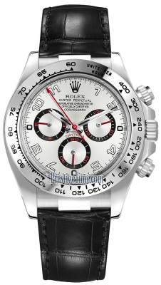 Rolex Cosmograph Daytona White Gold 116519 White and Black Arabic