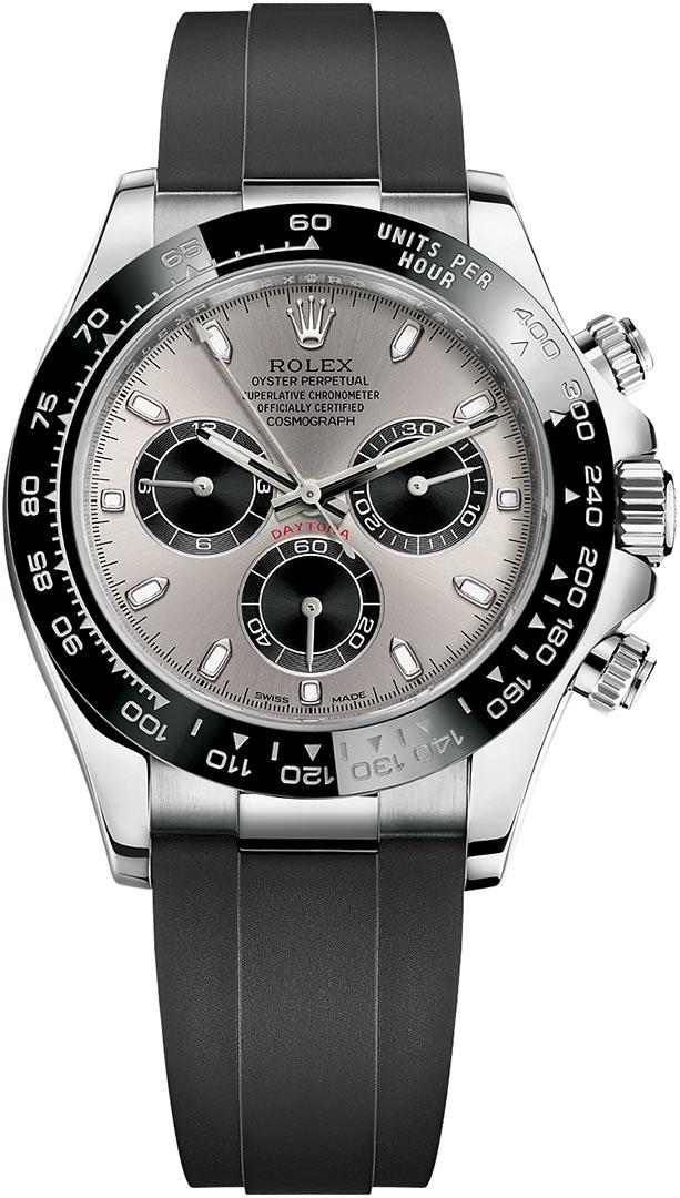 0b67f71d648 116519LN Steel and Black Oysterflex Rolex Cosmograph Daytona White ...
