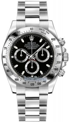 Rolex Cosmograph Daytona Stainless Steel 116520 Black