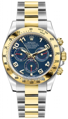 Rolex Cosmograph Daytona Steel and Gold 116523 Blue Arabic