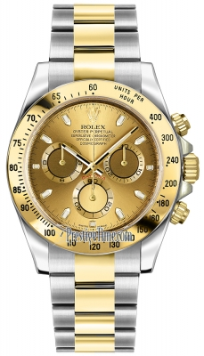 Rolex Cosmograph Daytona Steel and Gold 116523 Champagne Index