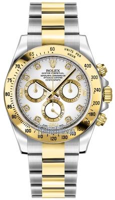 Rolex Cosmograph Daytona Steel and Gold 116523 White Diamond
