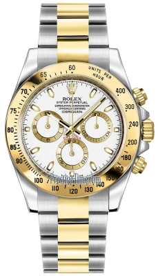 Rolex Cosmograph Daytona Steel and Gold 116523 White Index
