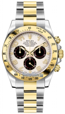 Rolex Cosmograph Daytona Steel and Gold 116523 White and Black Arabic