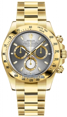 Rolex Cosmograph Daytona Yellow Gold 116528 Steel Index