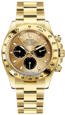 Rolex Cosmograph Daytona Yellow Gold 116528 Champagne-Black Index