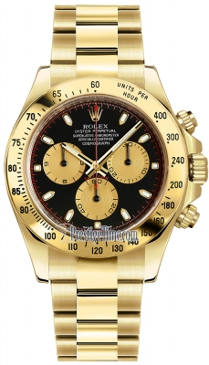 Rolex Cosmograph Daytona Yellow Gold 116528 Black-Champagne Index