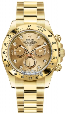 Rolex Cosmograph Daytona Yellow Gold 116528 Champagne Diamond