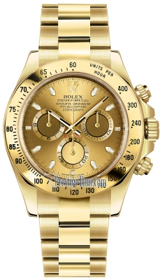 Rolex Cosmograph Daytona Yellow Gold 116528 Champagne Index