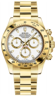 Rolex Cosmograph Daytona Yellow Gold 116528 White Index