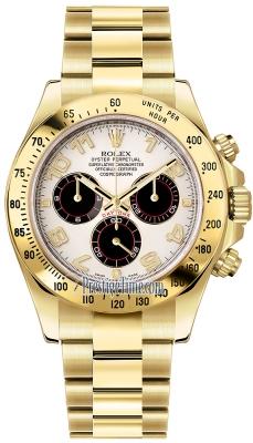 Rolex Cosmograph Daytona Yellow Gold 116528 White and Black Arabic