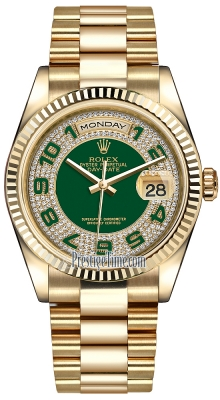 118238 Green Pave Diamond Arabic President