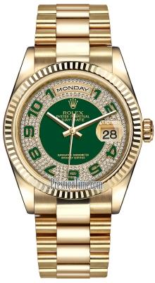 118238 Green Pave Diamond Arabic President