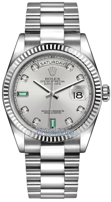 118239 Rhodium Diamond Emerald President