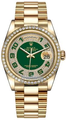 118348 Green Pave Diamond Arabic President