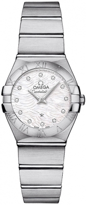 Omega Constellation Brushed 24mm 123.10.24.60.55.004