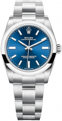 Rolex Oyster Perpetual 34mm 124200 Blue