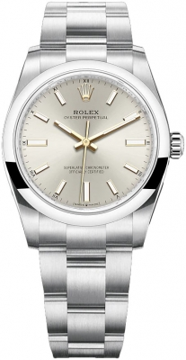 Rolex Oyster Perpetual 34mm 124200 Silver