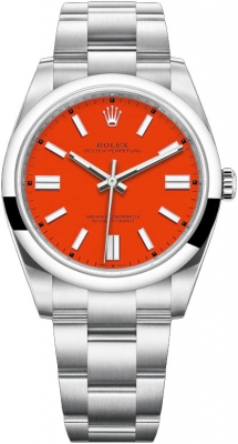 Rolex Oyster Perpetual 41mm 124300 Coral Red