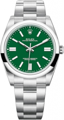 Rolex Oyster Perpetual 41mm 124300 Green