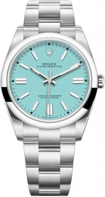 Rolex Oyster Perpetual 41mm 124300 Turquoise Blue
