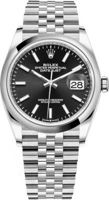 Rolex Datejust 36mm Stainless Steel 126200 Black Index Jubilee