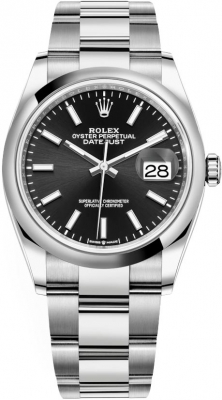 Rolex Datejust 36mm Stainless Steel 126200 Black Index Oyster