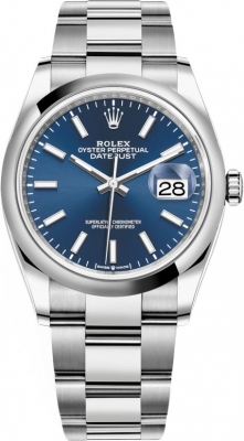 Rolex Datejust 36mm Stainless Steel 126200 Blue Index Oyster