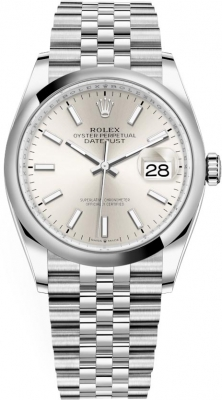 Rolex Datejust 36mm Stainless Steel 126200 Silver Index Jubilee