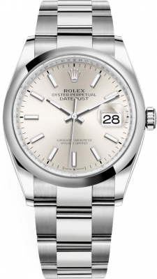 Rolex Datejust 36mm Stainless Steel 126200 Silver Index Oyster