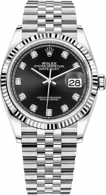 Rolex Datejust 36mm Stainless Steel 126234 Black Diamond Jubilee