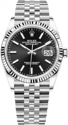 Rolex Datejust 36mm Stainless Steel 126234 Black Index Jubilee