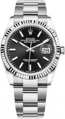 Rolex Datejust 36mm Stainless Steel 126234 Black Index Oyster