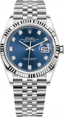 Rolex Datejust 36mm Stainless Steel 126234 Blue Diamond Jubilee