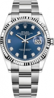 Rolex Datejust 36mm Stainless Steel 126234 Blue Diamond Oyster