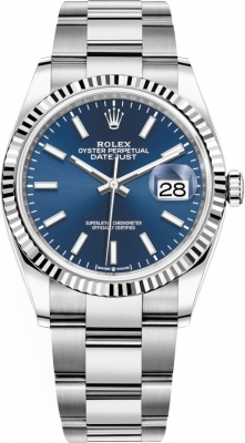 Rolex Datejust 36mm Stainless Steel 126234 Blue Index Oyster