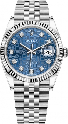 Rolex Datejust 36mm Stainless Steel 126234 Jubilee Blue Diamond Jubilee