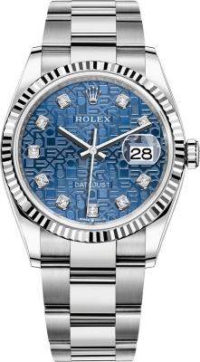 Rolex Datejust 36mm Stainless Steel 126234 Jubilee Blue Diamond Oyster