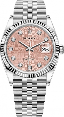 Rolex Datejust 36mm Stainless Steel 126234 Jubilee Pink Diamond Jubilee