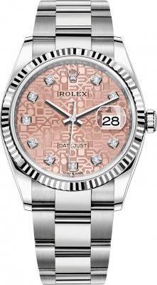 Rolex Datejust 36mm Stainless Steel 126234 Jubilee Pink Diamond Oyster